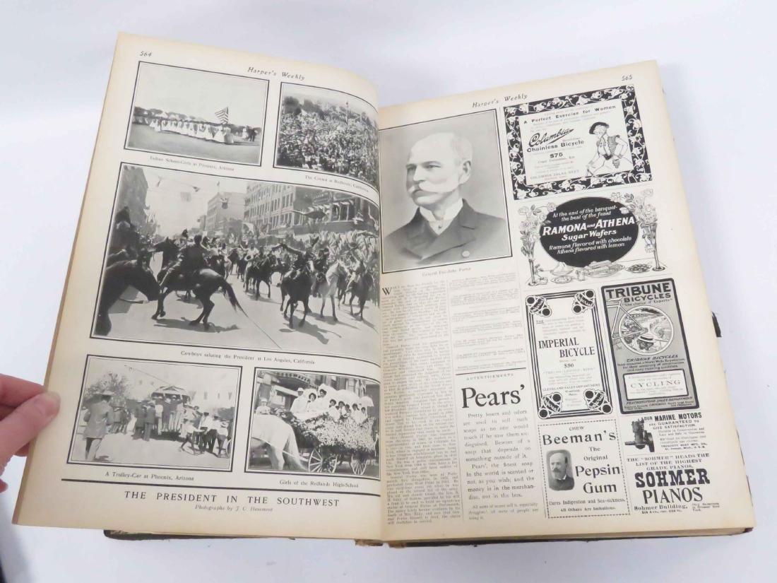 BOUND HARPER'S WEEKLY- MAY 19, 1901-DEC 28, 1901 (LOOSE - 4