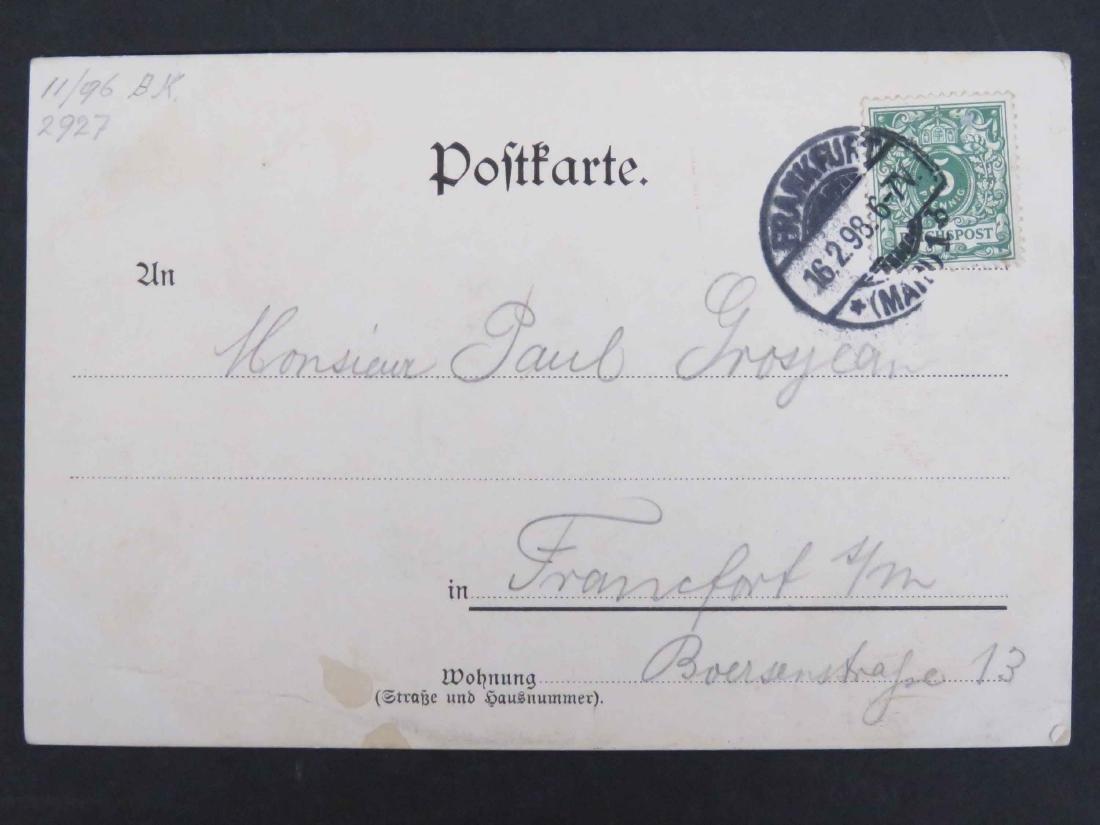 EMILE ZOLA (FRENCH NOVELIST 1840-1902) PENCIL INSCRIBED - 2