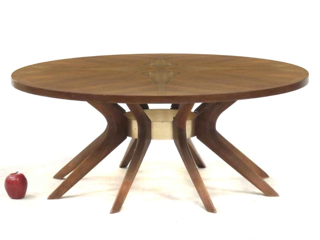 DANISH MID-CENTURY MODERN INLAID WALNUT/TEAK LOW TABLE.