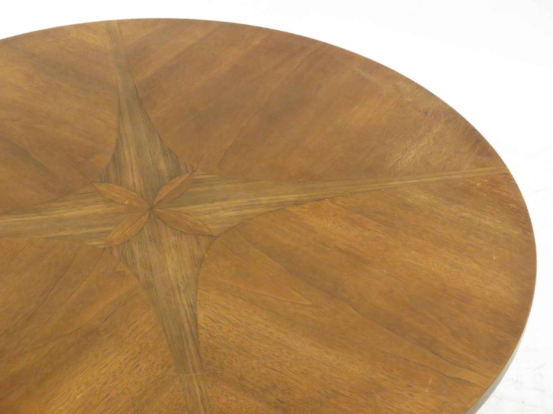 DANISH MID-CENTURY MODERN INLAID WALNUT/TEAK LOW TABLE. - 2