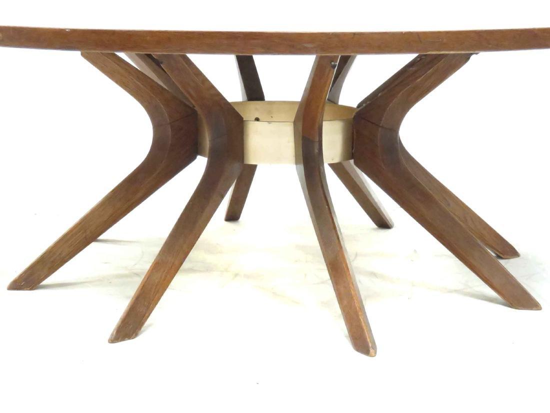 DANISH MID-CENTURY MODERN INLAID WALNUT/TEAK LOW TABLE. - 3