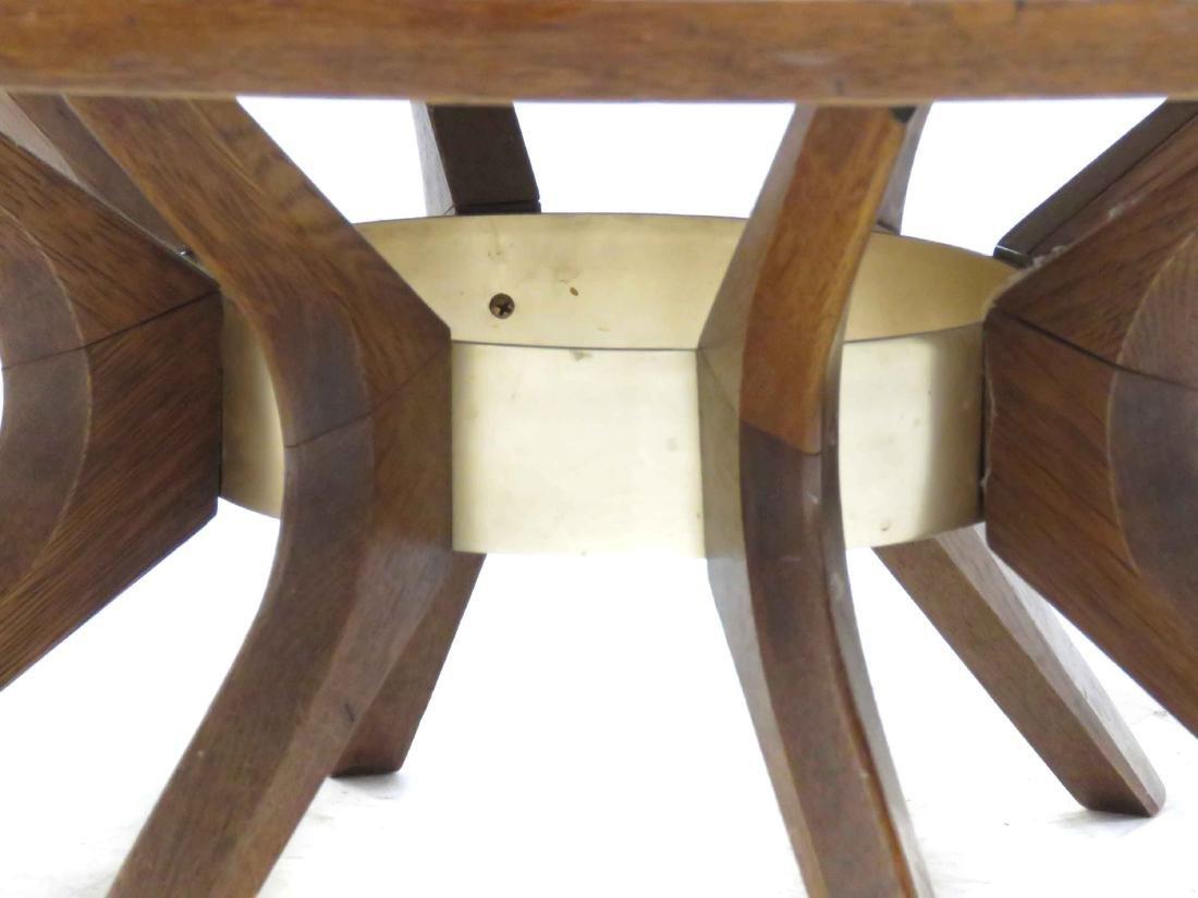DANISH MID-CENTURY MODERN INLAID WALNUT/TEAK LOW TABLE. - 4