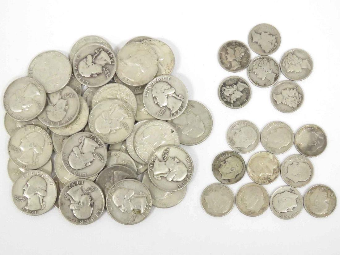 LOT (53) ASSORTED US SILVER COINS INCLUDING (37)