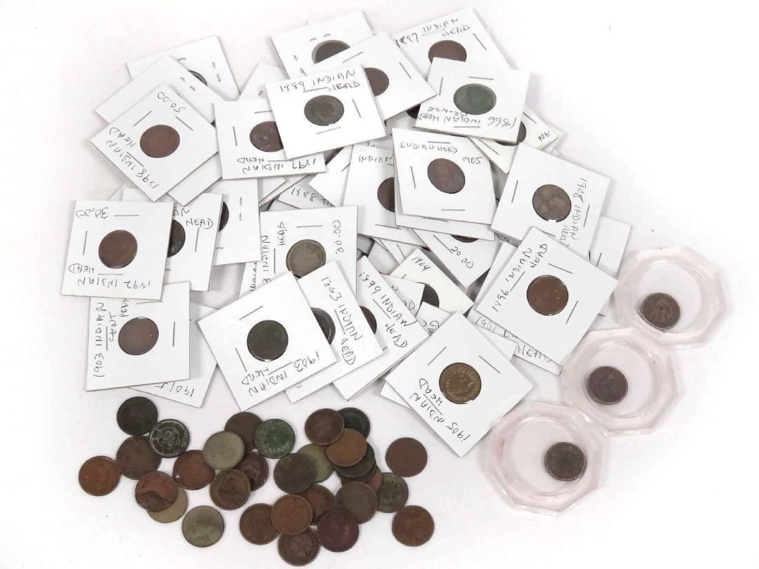 LOT (84) ASSORTED US INDIAN HEAD CENT COINS