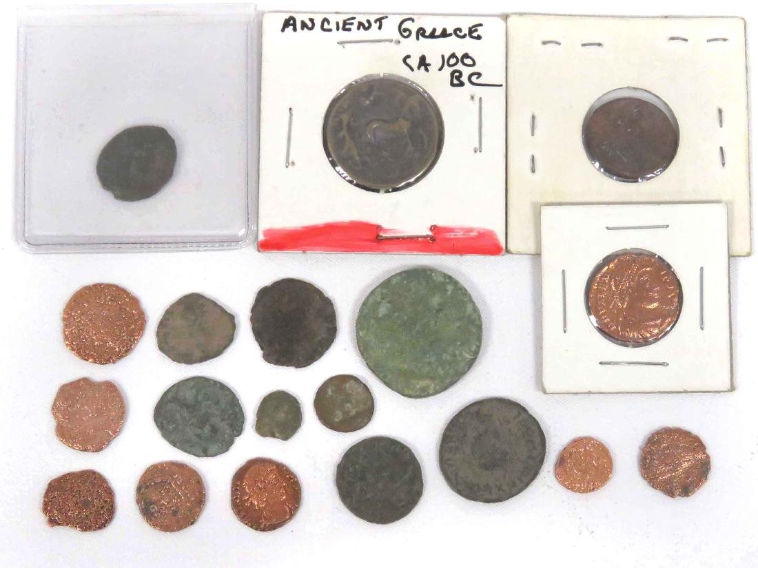 LOT (19) ASSORTED ANCIENT GREEK, ROMAN & MIDDLE EASTERN