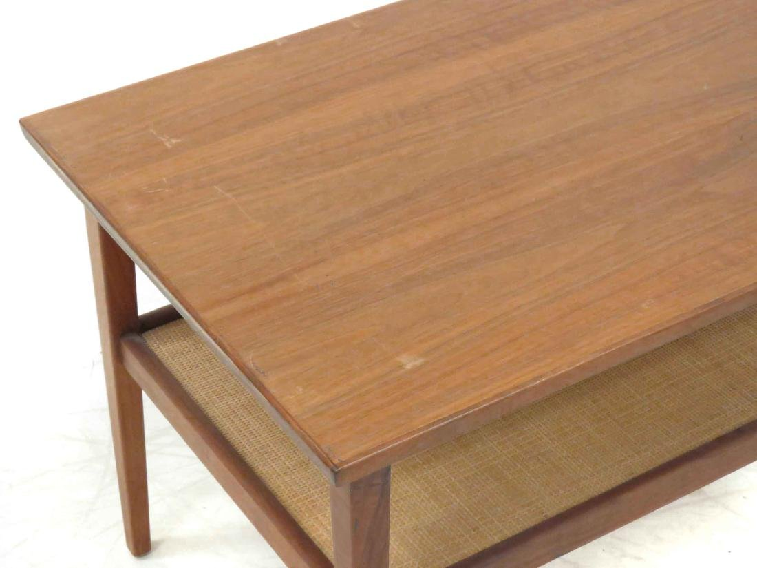PAIR DANISH MID-CENTURY MODERN WALNUT/TEAK LAMP TABLES. - 3