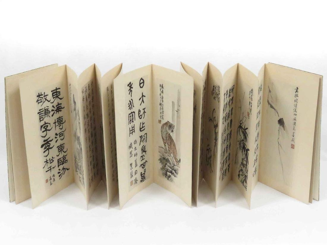 CHINESE BOOK WITH (10) INK AND WATERCOLOR TIPPED PLATES