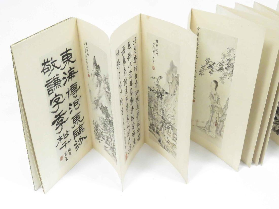 CHINESE BOOK WITH (10) INK AND WATERCOLOR TIPPED PLATES - 2