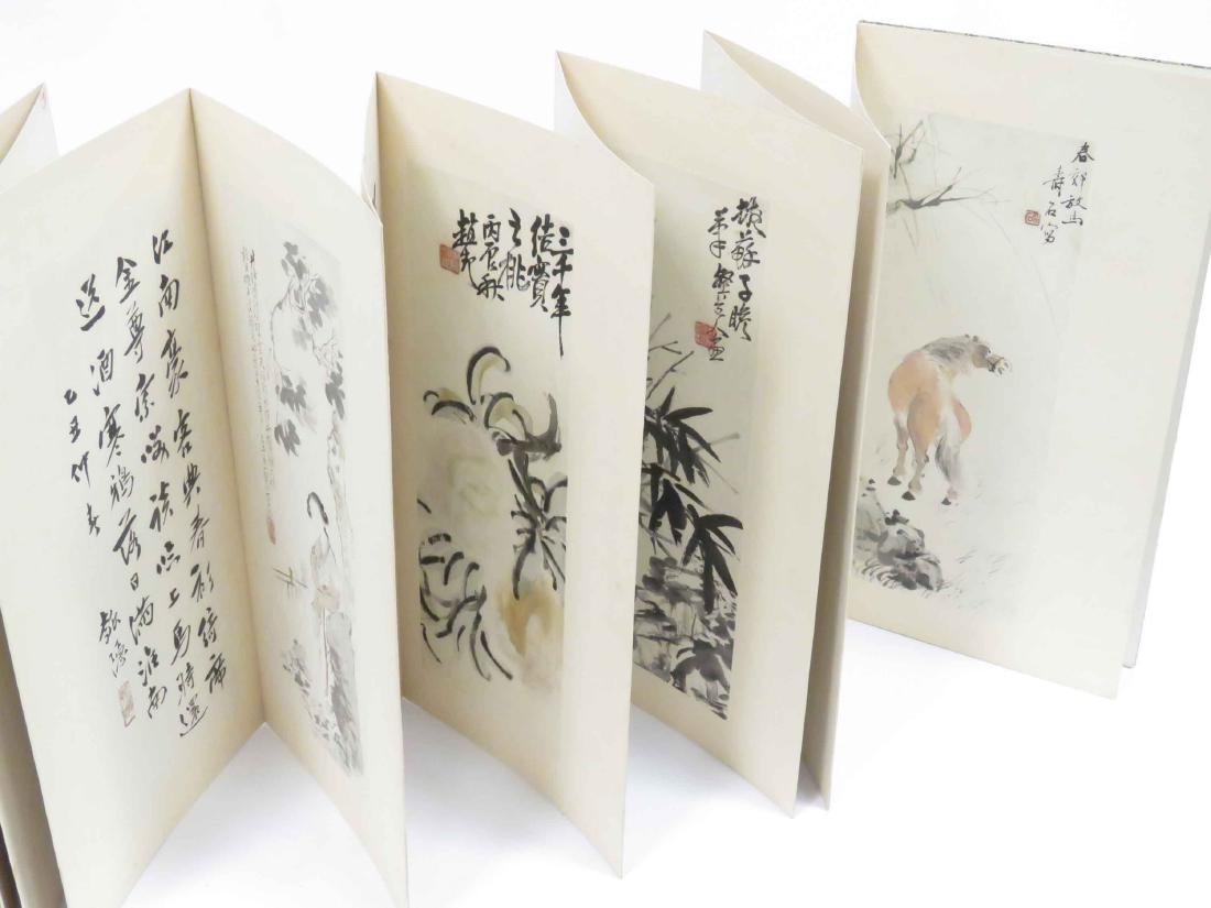 CHINESE BOOK WITH (10) INK AND WATERCOLOR TIPPED PLATES - 3
