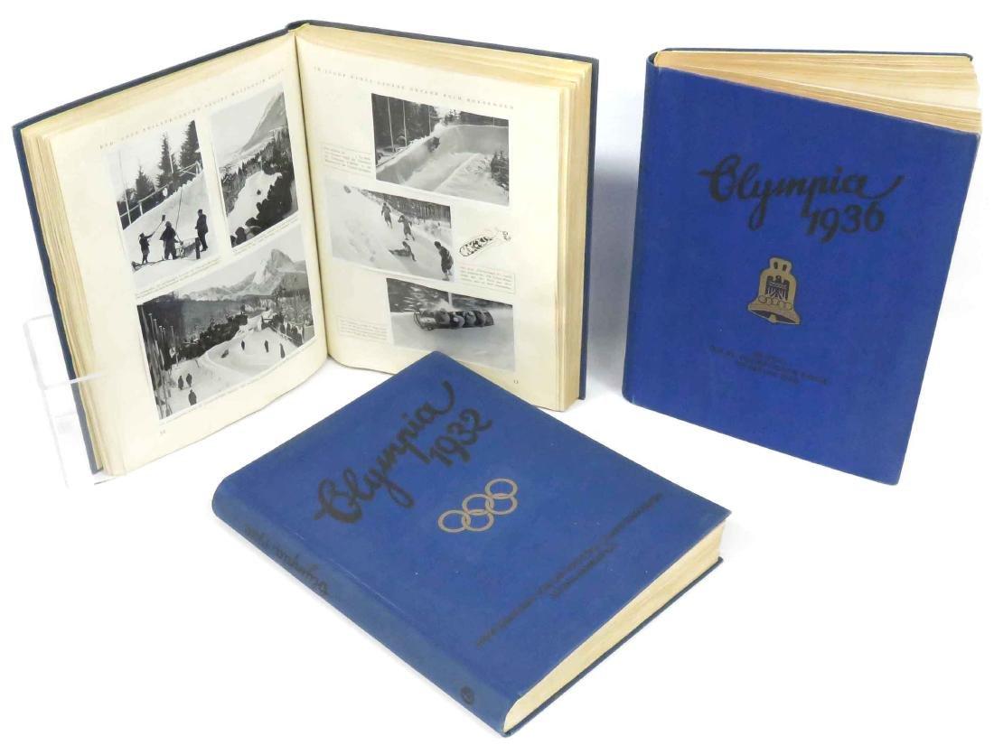 LOT (3) GERMAN 1932 & 1936 OLYMPIC TOBACCO CARD ALBUMS