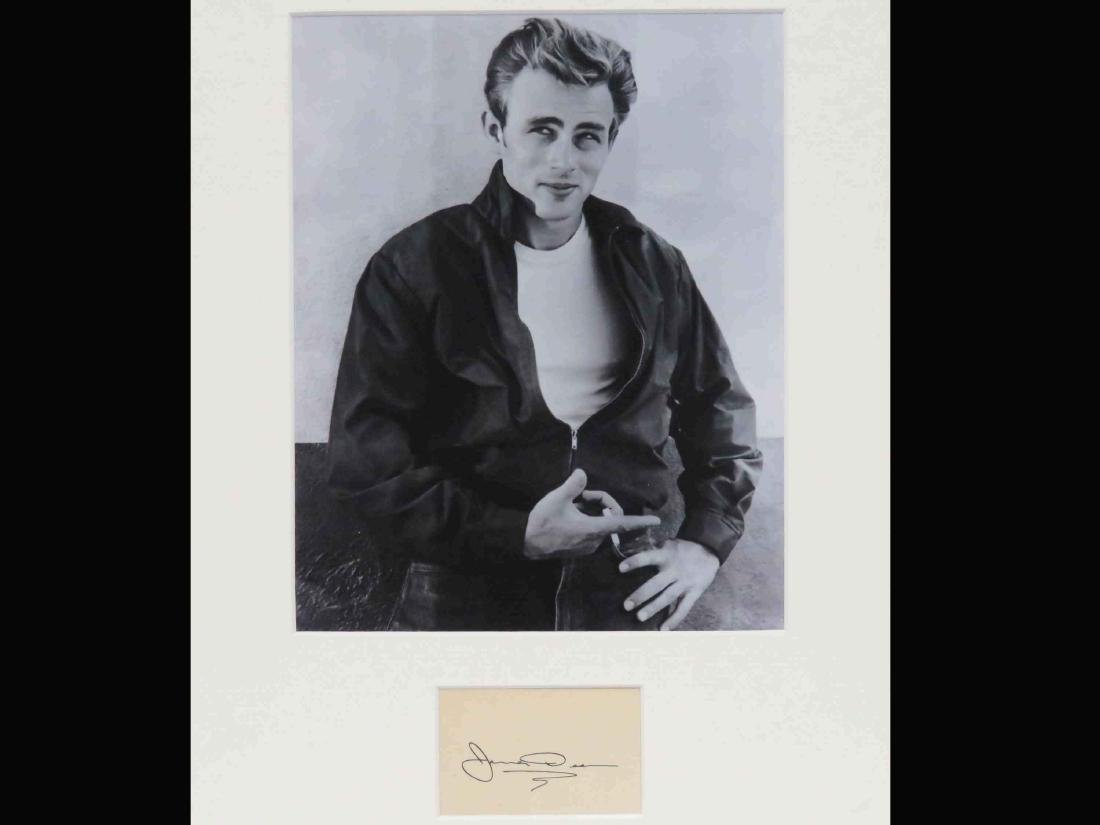 JAMES DEAN (AMERICAN ACTOR 1931-1955), AUTOGRAPH CUT. 2