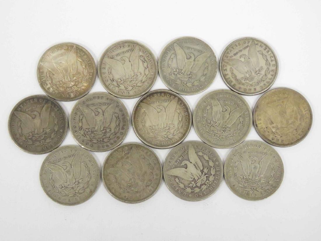 LOT (13) ASSORTED MORGAN SILVER DOLLAR COINS - 2