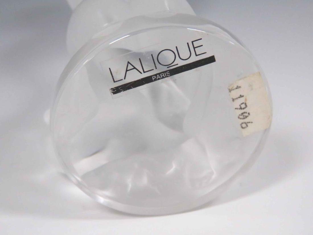 LALIQUE, FRANCE FROSTED CRYSTAL NUDE WITH FAUN, SIGNED - 4