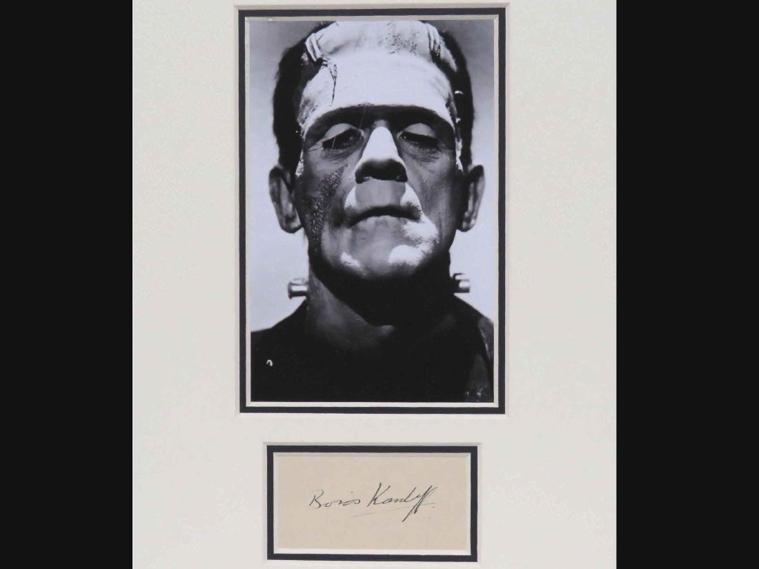 BORIS KARLOFF (AMERICAN ACTOR 1887-1969), AUTOGRAPH