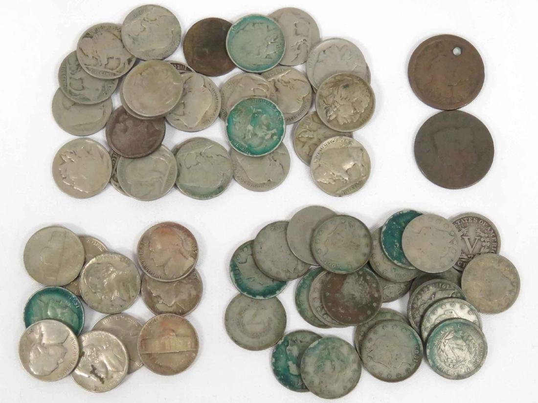 LOT (60) ASSORTED US COINS INCLUDING 1824 & 1847 LARGE