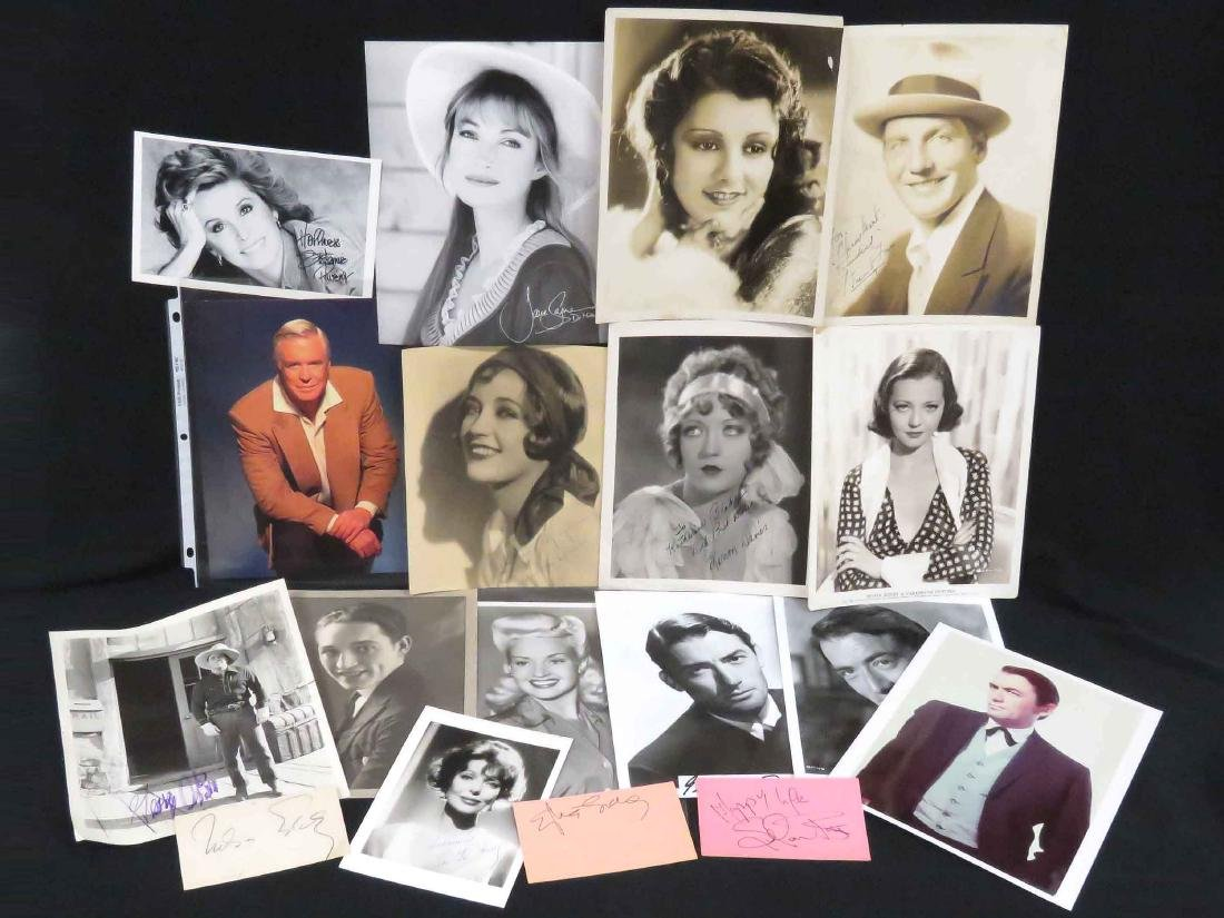 LOT (18) ASSORTED HOLLYWOOD/MOVIE STARS-PHOTOGRAPHS,