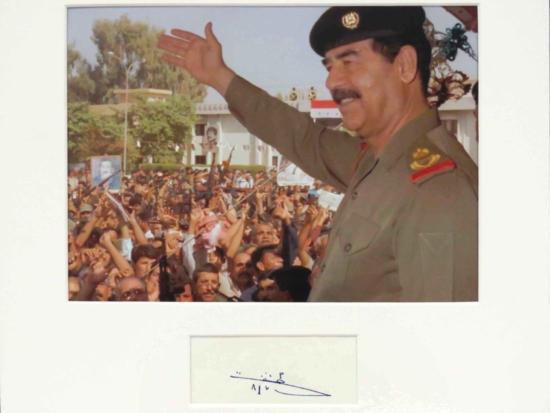 SADDAM HUSSEIN (IRAQI PRESIDENT 1937-2006), AUTOGRAPH