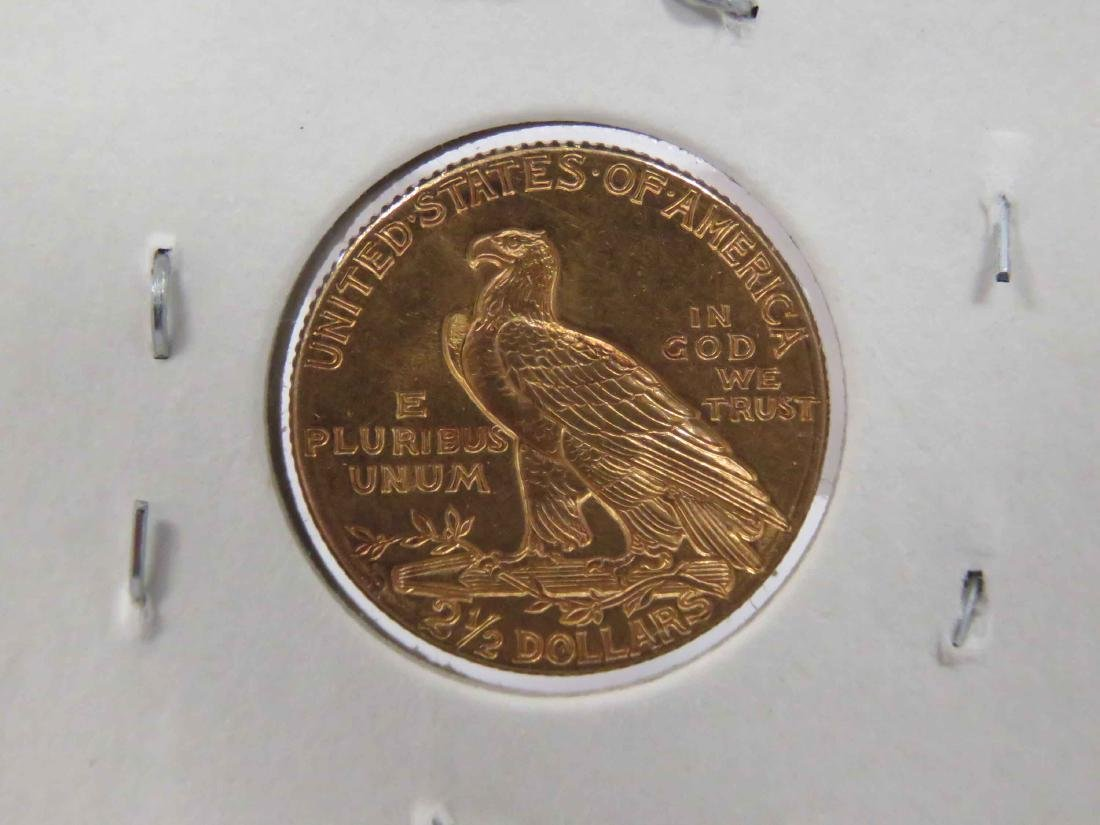 1914D INDIAN HEAD $2.50 GOLD QUARTER EAGLE COIN (AU) - 3
