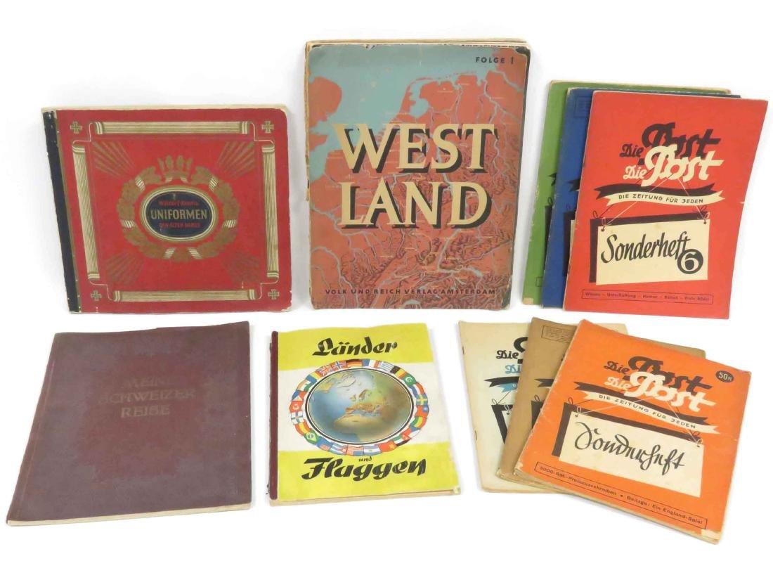 LOT (12) INCLUDING (2) GERMAN TOBACCO CARD ALBUMS &