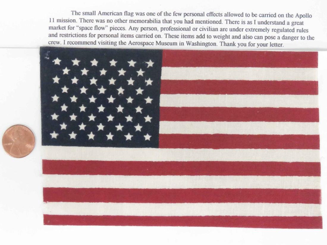 APOLLO II SPACE MISSION AMERICAN FLAG CARRIED BY CREW