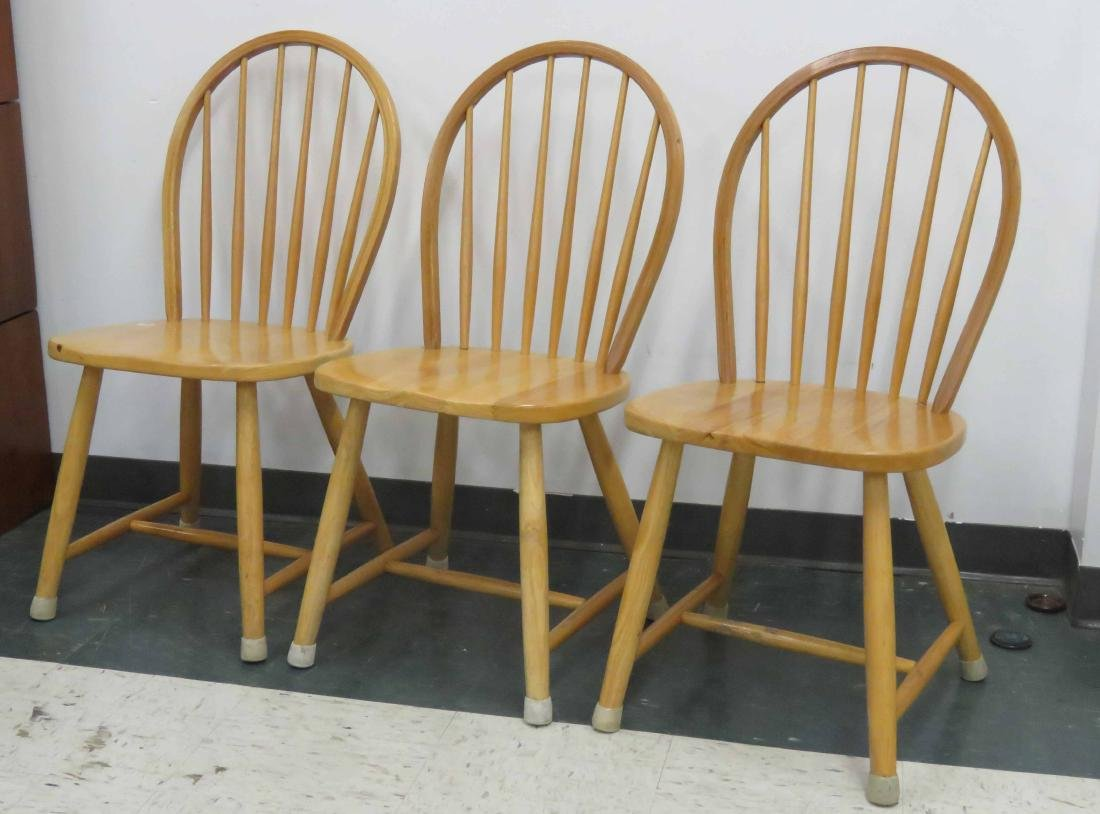 LOT (3) MAPLE CHAIRS