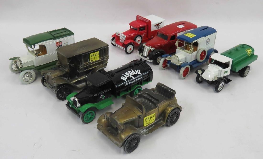 LOT DYE CAST/METAL CAR/TRUCK MODELS INCLUDING BP OIL,