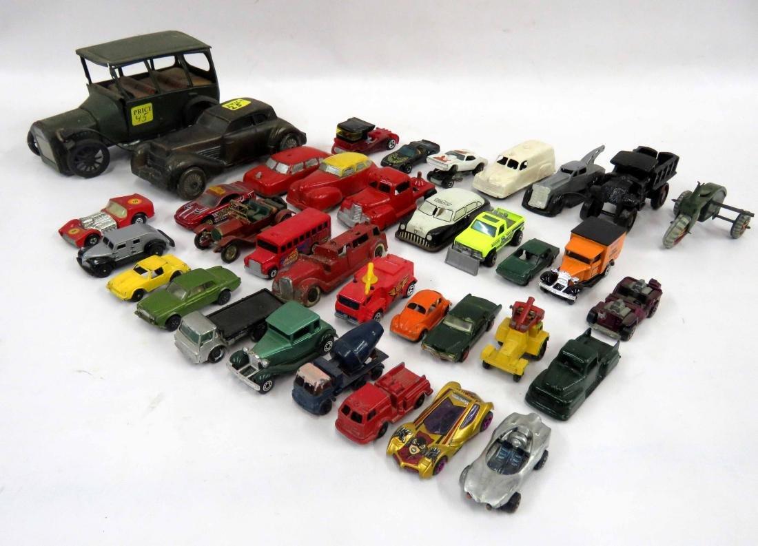 LOT ASSORTED CAR & TRUCK MODELS INCLUDING VINTAGE MATCH
