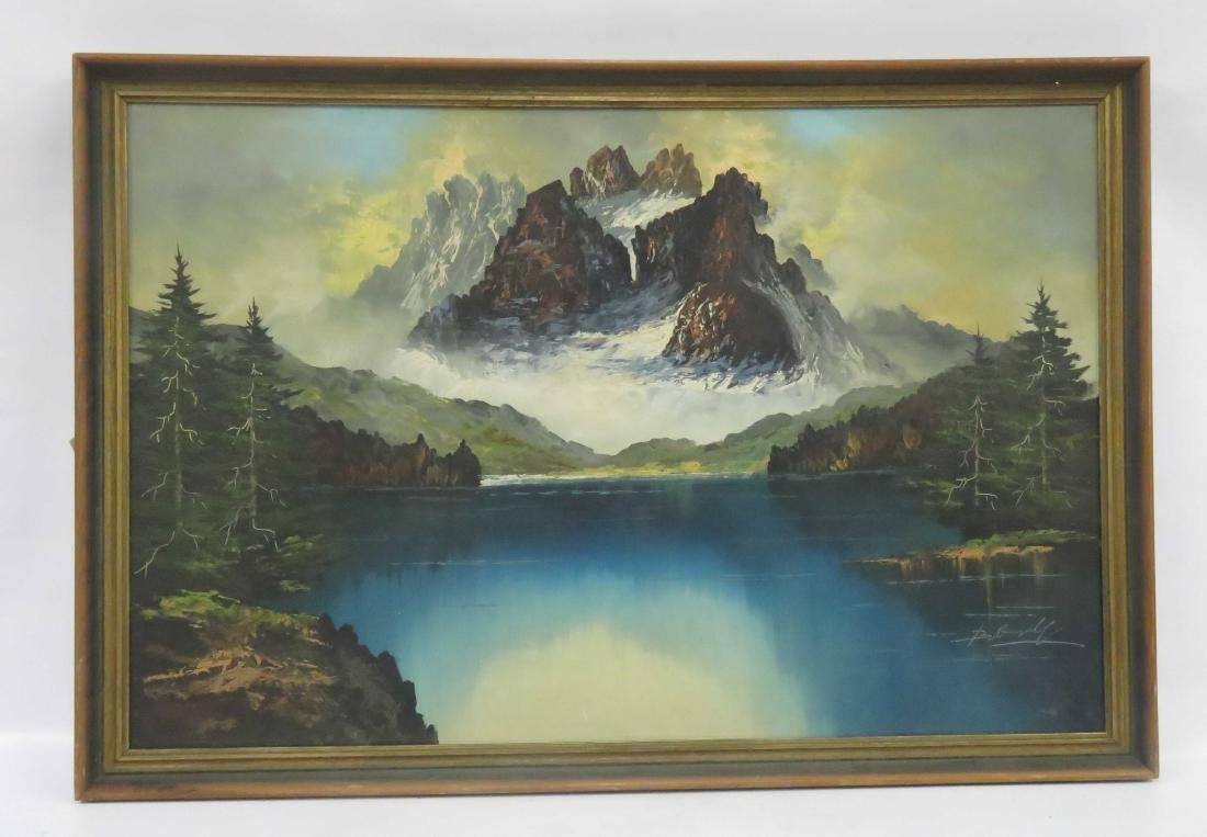 EUROPEAN SCHOOL (20TH CENTURY), OIL ON CANVAS, MOUNTAIN