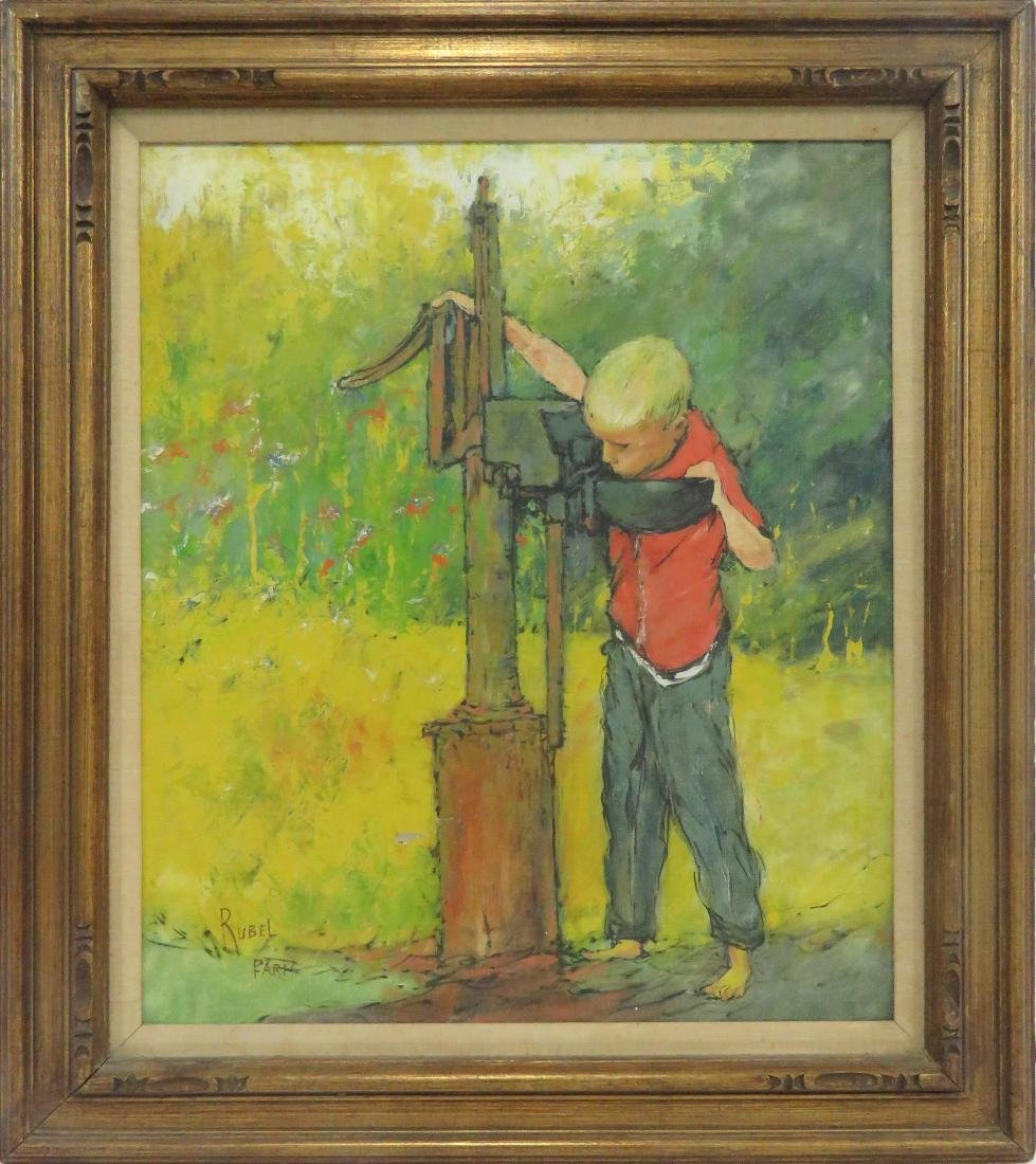 FRENCH SCHOOL (AMERICAN 20TH CENTURY), OIL ON CANVAS,