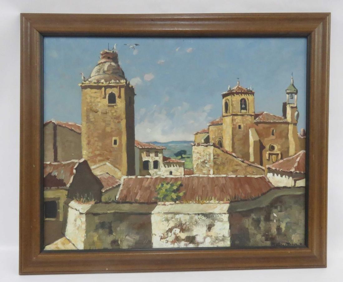 MARTINEZ TERYON (SPANISH 20TH CENTURY), OIL ON CANVAS,