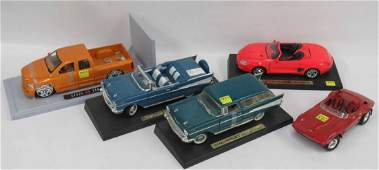 LOT (5) DIE CAST & PLASTIC CAR/TRUCK MODELS INCLUDING
