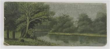AMERICAN SCHOOL (19TH CENTURY), OIL ON CANVAS BOARD,