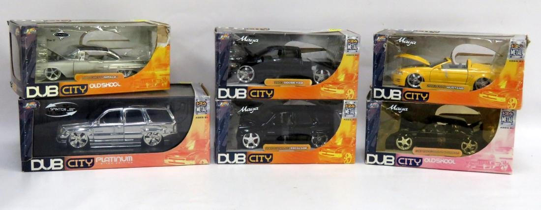 BOX LOT (6) DUB CITY DIE CAST OLD SKOOL CAR & TRUCK