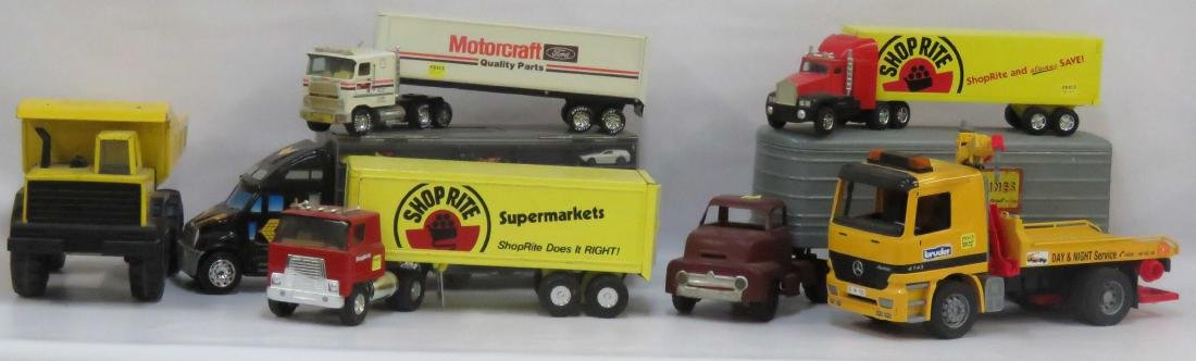 (2) BOX LOTS ASSORTED TOY TRUCKS INCLUDING DUNWELL