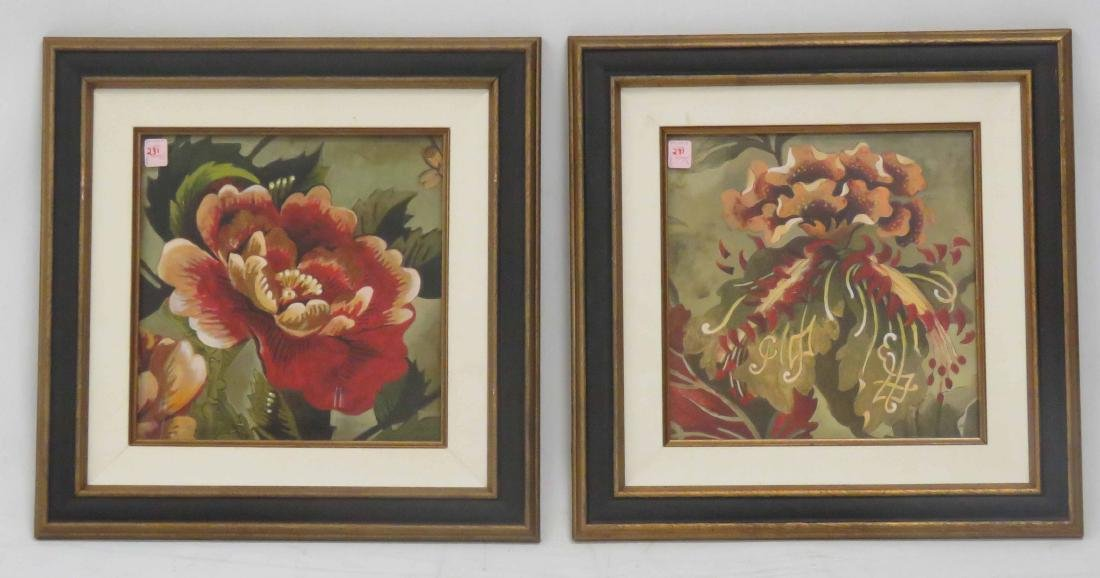 FRENCH SCHOOL (20TH CENTURY), LOT (2) GICLEE, FLOWERS,