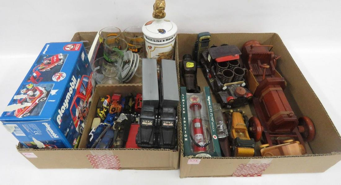LOT (2) BOXES ASSORTED COLLECTOR'S CARS MEMORABILIA