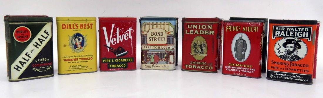 LOT (15) ASSORTED VINTAGE TOBACCO TINS