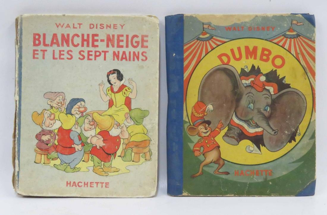 LOT (2) VINTAGE WALT DISNEY VOLUMES INCLUDING SNOW