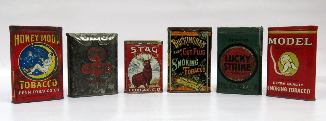 LOT (6) ASSORTED VINTAGE TOBACCO TINS