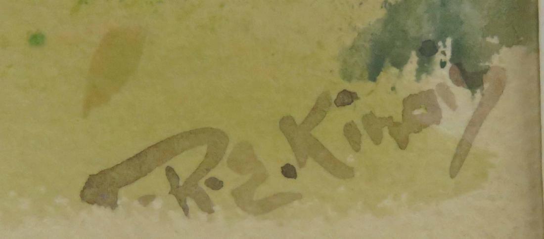 R.E. KINOIS (AMERICAN 20TH CENTURY), WATERCOLOR AND - 2