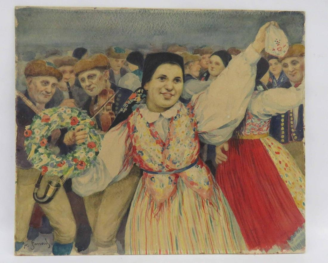 HUNGARIAN SCHOOL (20TH CENTURY), WATERCOLOR ON