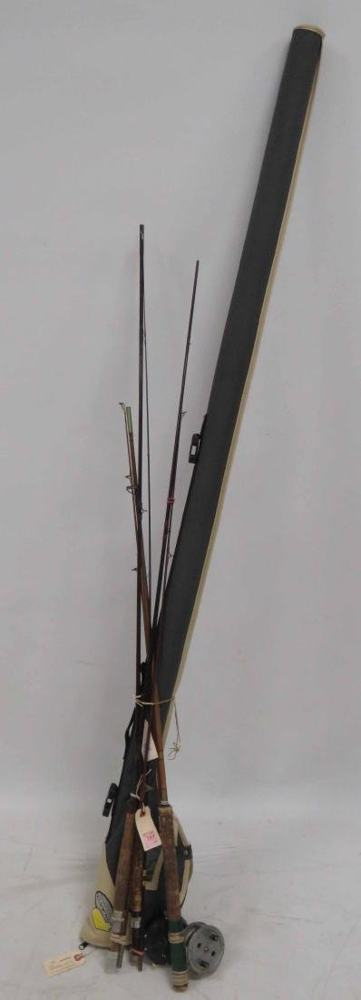 """LOT (4) ASSORTED FLY RODS/REELS INCLUDING """"THE DONESA"""""""