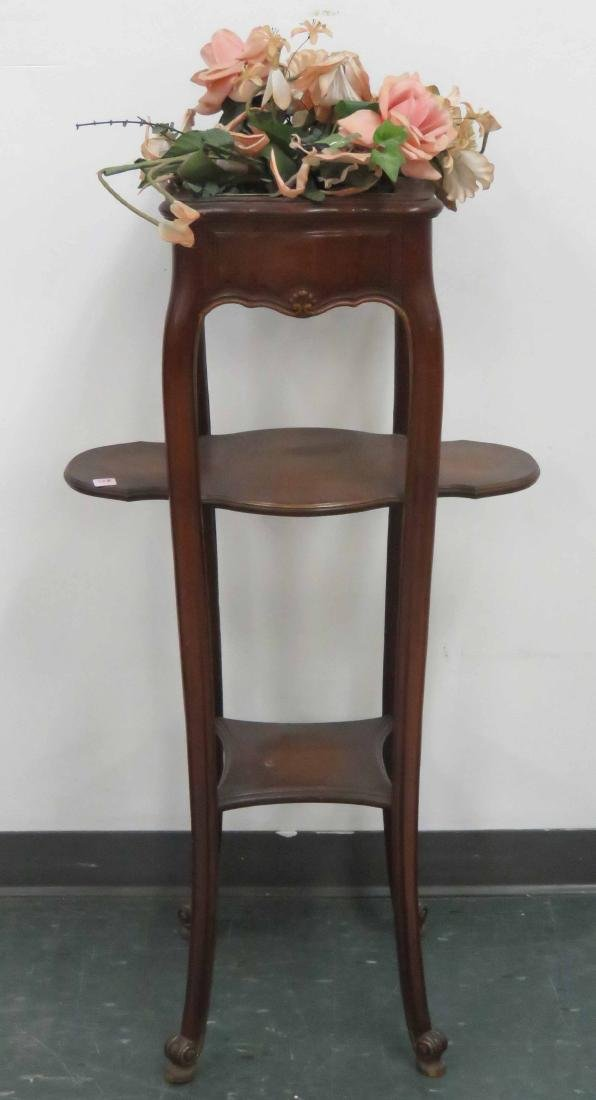 FRENCH STYLE CARVED FRUITWOOD PLANT STAND