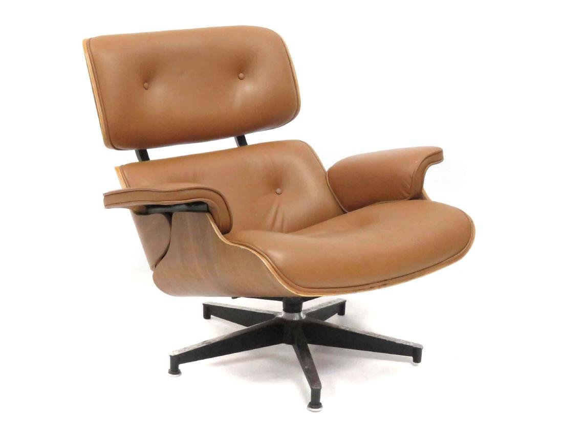 EAMES STYLE LAMINATED LOUNGE CHAIR
