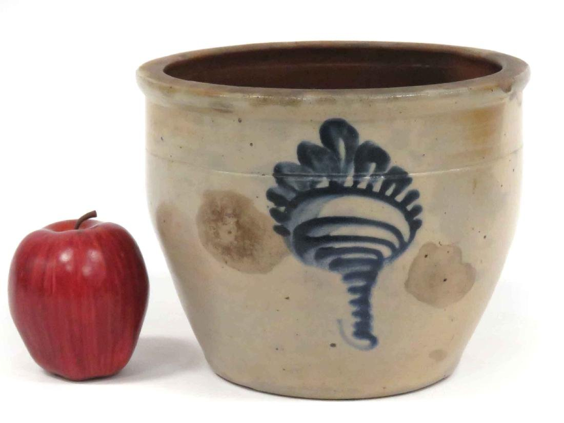 COBALT DECORATED STONEWARE CROCK, 19TH CENTURY. HEIGHT