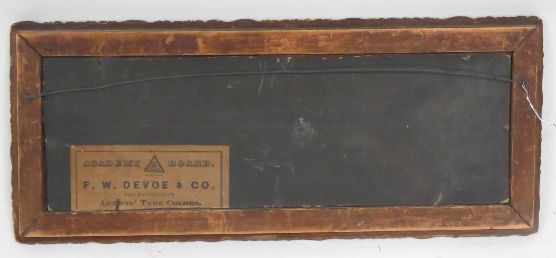 AMERICAN SCHOOL (19/20TH CENTURY), OIL ON ARTIST BOARD, - 2