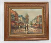 FRENCH SCHOOL 20TH CENTURY OIL ON CANVAS STREET