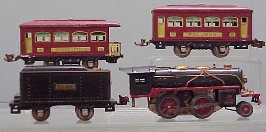 2008: LOT (4) LIONEL/IVES O-GAUGE TRAINS