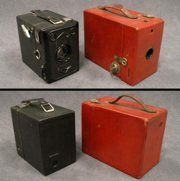 24: LOT (2) VINTAGE BOX CAMERAS