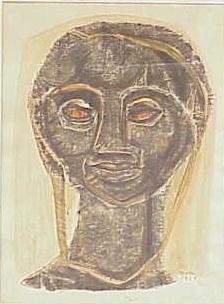 INK & WATERCOLOR, SIGNED HOMKER, 1963